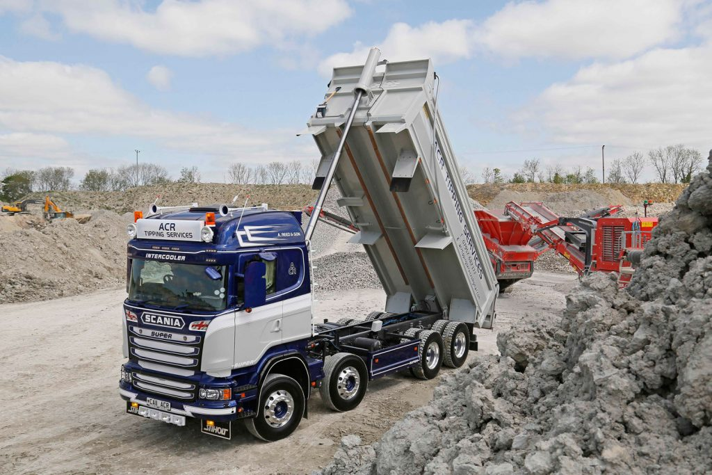 Ca11 ACR Call ACR ACR Tipping Services Scania R490 Tipper Double Dutch Alcoa 8x4 Vabis muck away tipper hire